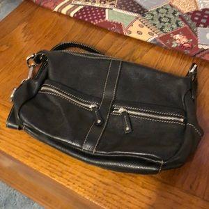 Black Leather Tignanello Purse